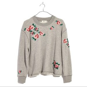 Mile(s) by Madewell Embroidered Crop Sweatshirt